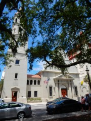 The Cathedral Basilica of St. Augustine is a historic cathedral constructed over five years (1793–1797).