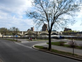 That's the I-35 bridge from the parking lot of Mill Ruins Park.
