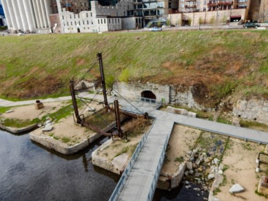 Part of the Mill Ruins park. these old mills were unearthed after having been covered over.
