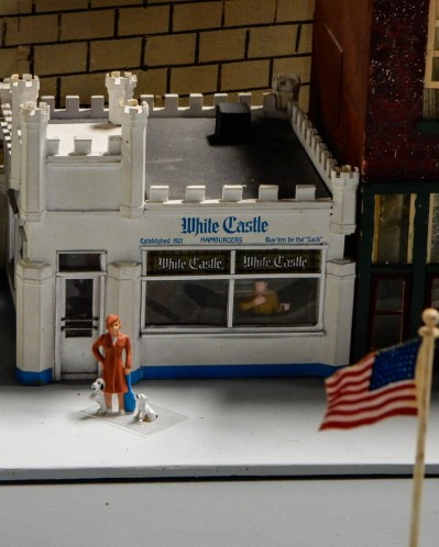 White Castle - part of a miniature train layout in Minneapolis.