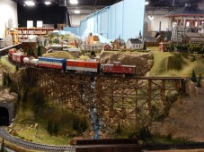 The workmanship on this trestle is amazing. The layout continues for (scale) miles.