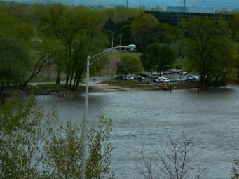Great River Park, as seen from the Connecticut Conference Center.