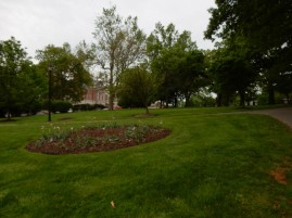 On the lawn of the Connecticut Capitol.