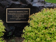 The Veterans memorial.