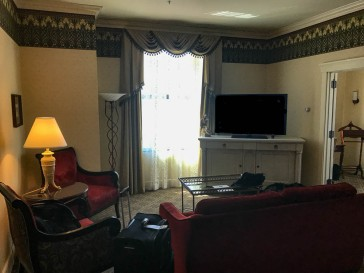 The living room (parlor?) of our suite.