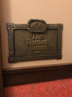 The nameplate of our suite.