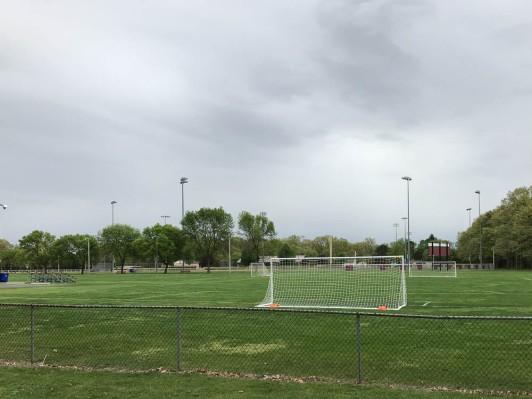 Soccer practice has begun.