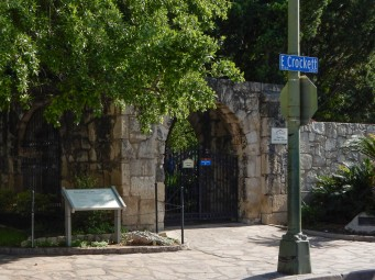 One of the gates in the perimeter wall to the Alamo.