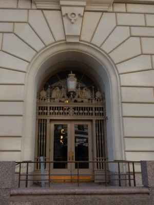 Another side entrance to the Post Office and Courthouse.