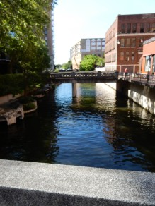 Heading over to the venue, we crossed the River Walk.