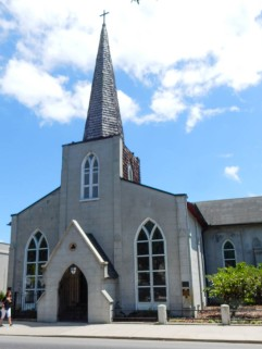 Side entrance to Trinity Parish.
