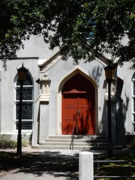 Trinity Parish in St. Augustine. Gotta love a red door.