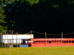 They're still setting up for the firemen's carnival.