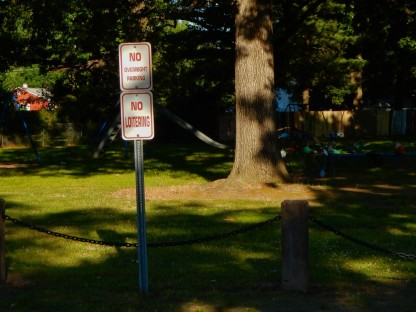 Maybe it's just me, but shouldn't you be allowed to loiter in a public park?