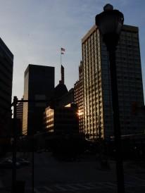 Sunrise over Baltimore.