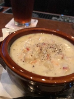 Clam Chowder - good in any weather.