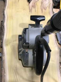 Sanding has brought out the golden color of the mulberry.