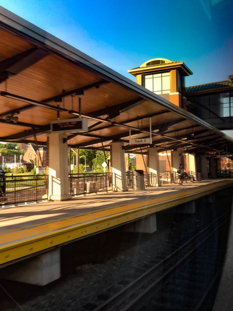 Meriden's expanded station.