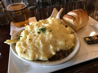 I did have some meat and potatoes - shepherd's pie to be exact.