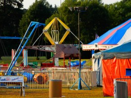 The carnival crews are still sleeping as Maddie and I walk around.