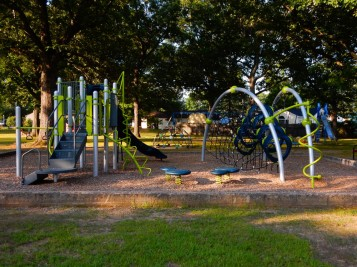 The new playground - keep those kids moving.