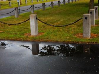 It rained. I've always liked puddles.
