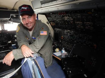 Our host on the flight deck.