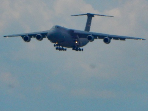 One of Westover's C5m Super Galaxy. The biggest thing flying in the United States.