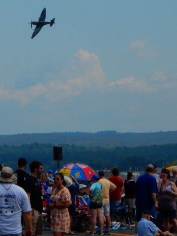 That's a WWII battle flown Spitfire performing at the Great New England Air Show.
