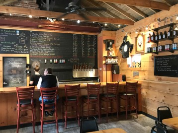 Tap room at Powder Hollow Brewery.