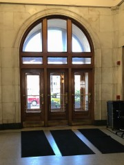 Interior of main entrance doors.
