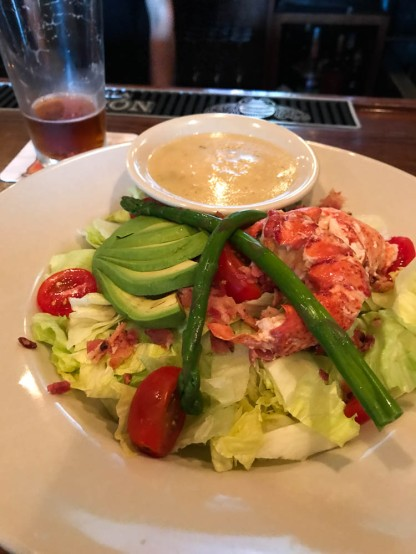 Lobster salad, from the right angle.