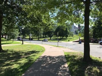 Riding through Bushnell Park.