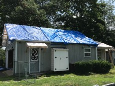 This side is almost ready for new shingles.