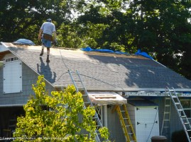 These shingles warm up fast in the sun. They get as hot as 165°f (74°c) and they get very soft.