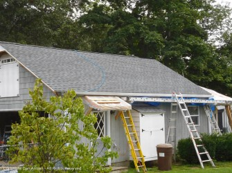 The garage roof is done.