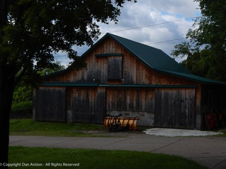 This is the maintenance barn at the cemetery where my parents are interred.