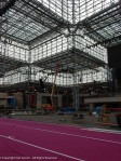Inside the Javits center - I love this building.