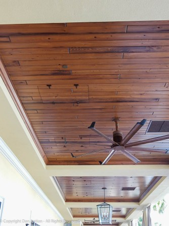 Look up! Each bay in the ceiling of this outdoor walkway outside our meeting rooms, has two access doors.