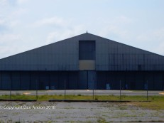 One of the old hangars in the area where we parked.