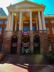 East entrance to the State House. This entrance opens onto the courtyard.