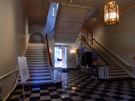 This magnificent staircase greets visitors. I was happy to see that we were allowed ot use them. In some museums, the historic stairs are off-limits.