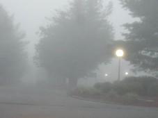 Heavy fog.