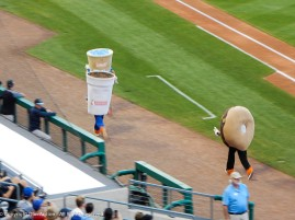 "This race occurs during each game. I've never seen ""Sprinkles"" (the donut) win. Not very aerodynamic."
