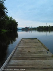 I like the pictures looking down the dock.