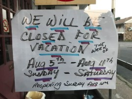 Maddie's is closed for vacation - now what do I do for breakfast?