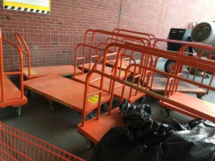 I don't think this is how the carts are supposed to be stored.