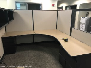 This should do nicely. This is the new home of out Support Specialist. The other two employees in my group are in the adjacent offices - we're located together for the first time in five years.