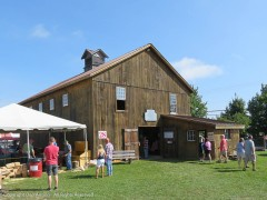 The museum barn at the fair.