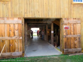 Back door to the museum barn at the Goshen Fair.